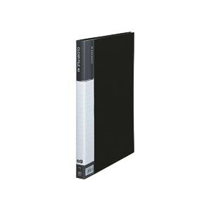 【送料無料】(まとめ) TANOSEE クリヤーファイル(台紙入) A4タテ 40ポケット 背幅23mm ダークグレー 1冊 【×10セット】 生活用品・インテリア・雑貨 文具・オフィス用品 ファイル・バインダー