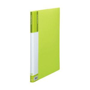 【送料無料】(まとめ) TANOSEE クリヤーファイル(台紙入) A4タテ 20ポケット 背幅14mm ライトグリーン 1冊 【×10セット】 生活用品・インテリア・雑貨 文具・オフィス用品 ファイル・バインダ