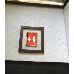 【送料無料】奥が透けて見えるフレーム ■いわさきちひろ透明ブラウンフレーム 凧と羽子板 生活用品・インテリア・雑貨 インテリア・家具 絵画 レビュー投稿で次回使える2000円クーポン全