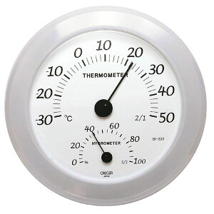 【送料無料】クレセル 日本製 温湿度計 壁掛け用 ホワイト CR-223W ダイエット・健康 健康器具 温度計・湿度計 レビュー投稿で次回使える2000円クーポン全員にプレゼント