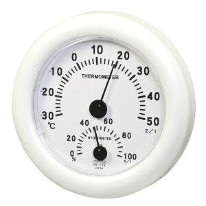 【送料無料】クレセル 日本製 温湿度計 壁掛け・卓上用 ホワイト CR-103W ダイエット・健康 健康器具 温度計・湿度計 レビュー投稿で次回使える2000円クーポン全員にプレゼント