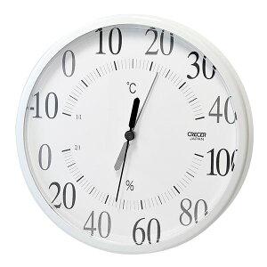 【送料無料】クレセル 日本製 温湿度計 壁掛け・卓上用 ホワイト CR-160W ダイエット・健康 健康器具 温度計・湿度計 レビュー投稿で次回使える2000円クーポン全員にプレゼント
