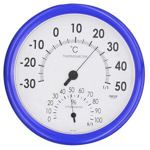 【送料無料】クレセル 日本製 温湿度計 壁掛け用 ブルー CR-320B ダイエット・健康 健康器具 温度計・湿度計 レビュー投稿で次回使える2000円クーポン全員にプレゼント