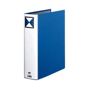 【送料無料】(まとめ) TANOSEE 両開きパイプ式ファイル A4タテ 600枚収容 背幅76mm 青 1冊 【×10セット】 生活用品・インテリア・雑貨 文具・オフィス用品 ファイル・バインダー クリアケース・