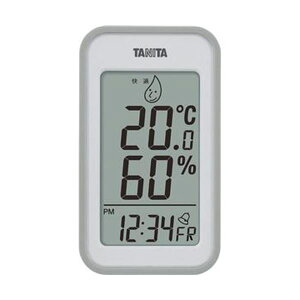 (まとめ)タニタ デジタル温湿度計 グレーTT559GY 1個【×5セット】 ダイエット・健康 健康器具 温度計・湿度計 レビュー投稿で次回使える2000円クーポン全員にプレゼント