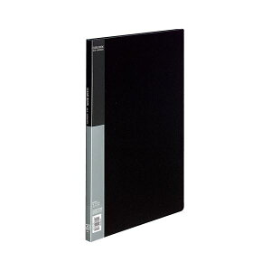 コクヨ クリヤーブック(ベーシック)固定式 B4タテ 20ポケット 背幅17mm 黒 ラ-B24D 1セット(4冊) 生活用品・インテリア・雑貨 文具・オフィス用品 ファイル・バインダー クリアケース・ク