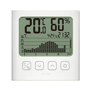 タニタ グラフ付きデジタル温湿度計ホワイト TT-580-WH 1個 ダイエット・健康 健康器具 温度計・湿度計 レビュー投稿で次回使える2000円クーポン全員にプレゼント