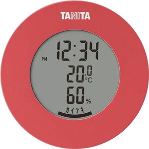 タニタ デジタル 温湿度計 ピンク TT-585 ダイエット・健康 健康器具 温度計・湿度計 レビュー投稿で次回使える2000円クーポン全員にプレゼント