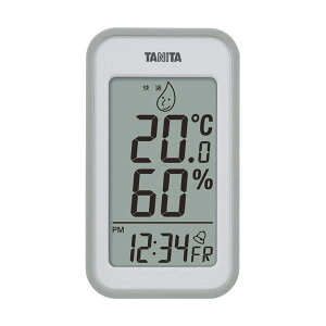 (まとめ)タニタ デジタル温湿度計 グレーTT559GY 1個【×2セット】 ダイエット・健康 健康器具 温度計・湿度計 レビュー投稿で次回使える2000円クーポン全員にプレゼント