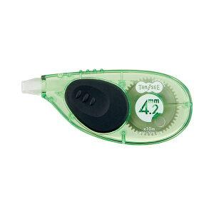 【送料無料】(まとめ) TANOSEE 修正テープ ヨコ引き 4.2mm幅×10m グリーン 1個 【×50セット】 生活用品・インテリア・雑貨 文具・オフィス用品 修正液・修正ペン・修正テープ レビュー投稿で次