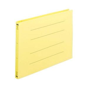 (まとめ) TANOSEE フラットファイル(再生PP) A4ヨコ 150枚収容 背幅18mm イエロー 1パック(5冊) 【×10セット】 生活用品・インテリア・雑貨 文具・オフィス用品 ファイル・バインダー クリア