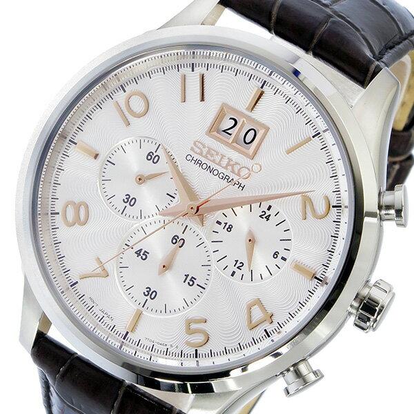 5000円以上送料無料 セイコー SEIKO クロノ クオーツ メンズ 腕時計 SPC087P1 シルバー 【腕時計 海外インポート品】 レビュー投稿で次回使える2000円クーポン全員にプレゼント