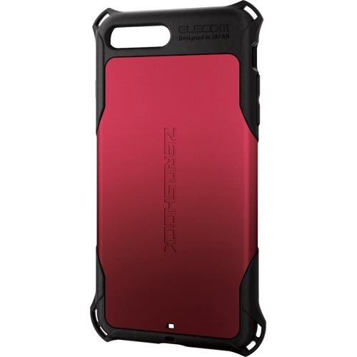 10000円以上送料無料 エレコム iPhone8Plus ZEROSHOCK レッドPM-A17LZERORD(1コ入) 家電 スマートフォン・携帯電話 ケース・カバー レビュー投稿で次回使える2000円クーポン全員にプレゼント