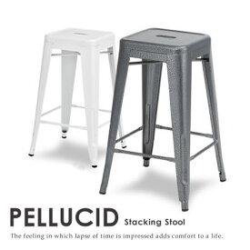 【ポイント2倍】【代引不可】【送料無料】【ハイスツール PELLUCID-ぺルシード- 】 スツール 椅子 いす イス スチール インテリア 1人掛け スタッキング