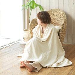 【送料無料】オーガニックコットンタオルケット【シングル】メイドインアース