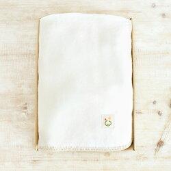 【ラッピング&ギフト箱付き】綿毛布【シングル/きなり/茶】◆純オーガニックコットン100%