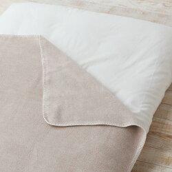 ベビー綿毛布【茶】◆純オーガニックコットン100%