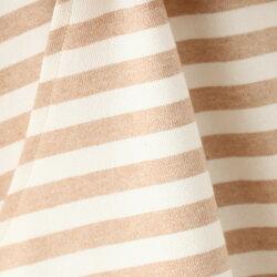 授乳服チュニックワンピース【太ボーダー】【茶】〜オーガニックコットン100%〜メイド・イン・アース【RCP】