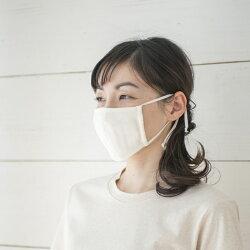 ドビー織りガーゼマスク◆純オーガニックコットン100%