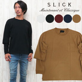 スリック SLICK レイヤード ドロップショルダー 長袖 Tシャツ カットソー MVS 5155241