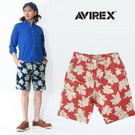 AVIREX アビレックス リーフパターン ショートパンツ ショーツ ハーフパンツ トロピカル 6186093