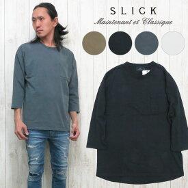 スリック SLICK ドロップショルダー Tシャツ カットソー 七分袖 ビッグサイズ 5165201