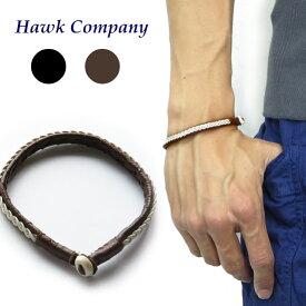 ホークカンパニー HAWK COMPANY ブレスレット ワイヤー&レザー 6122