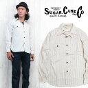 シュガーケーン SUGAR CANE ワークシャツ 長袖 8.5oz ホワイトウォバッシュ FICTION ROMANCE フィクションロマンス SC27076