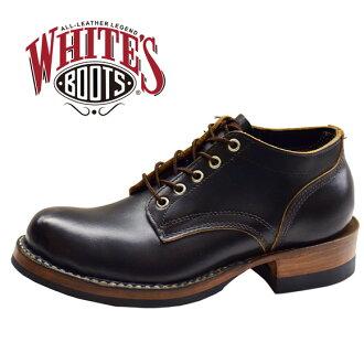 白人靴子白色靴子 4 英寸牛津 4 英寸牛津工作靴皮鞋