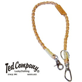 テッドマン テッドマンズ TEDMAN'S 編みこみレザーウォレットロープ