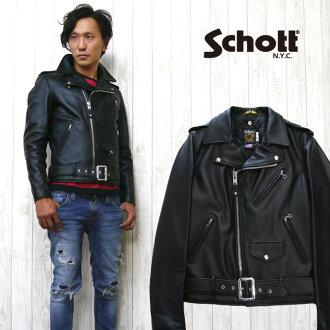"""쇼트 Schott """"613US"""" 라 이다 스 레자 쟈 켓 트 일본 한정판 롱 길이 모델"""