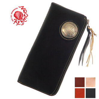 Red moon REDMOON round zipper long wallet LP2000-RMLA original native concho leather wallet
