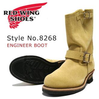"REDWING 레드 윙 엔지니어 부츠 스웨이드 Hawthorne ""Abilene"" Roughout Style No.8268"