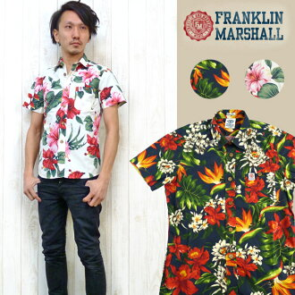 "Franklin Marshal FRANKLIN & MARSHALL short sleeves shirt floral design flower print ""SHMAL"" 39,181-3018"