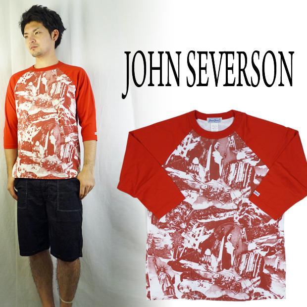 John Severson ジョンセバーソン ラグラン7分袖プリントTシャツ