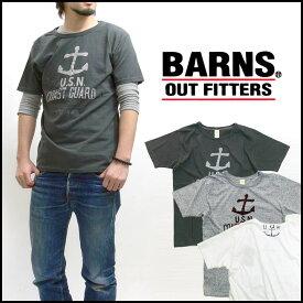 バーンズ BARNS オーガニックコットンTシャツ「USN」