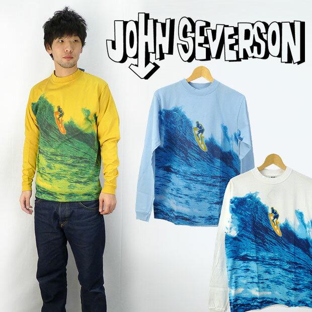 JOHNSEVERSON ジョンセバーソン 長袖プリントTシャツ