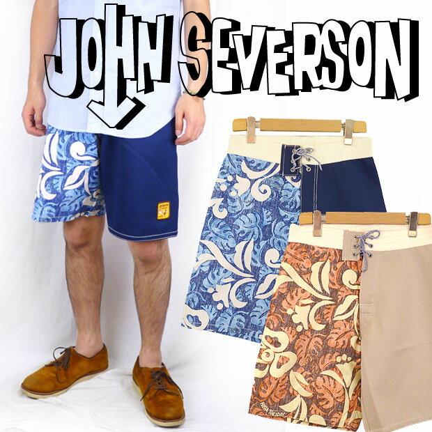 John Severson ジョンセバーソン 切替しサーフショートパンツ「ハワイアン」