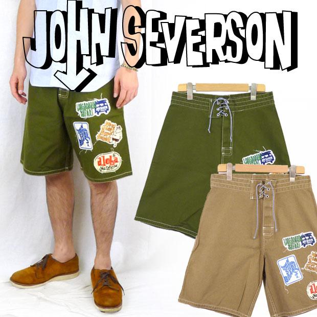 John Severson ジョンセバーソン ワッペンサーフパンツ
