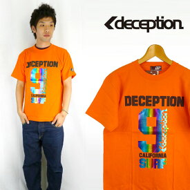 DECEPTION ディセプション レインボーホログラムプリント半袖Tシャツ「9」
