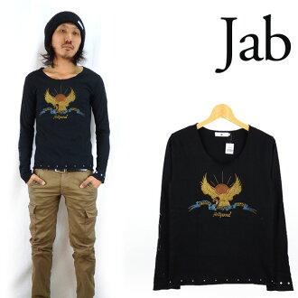 jab 잽 와이드 넥 L/S T셔츠 「Sunset Strip Tattoo」
