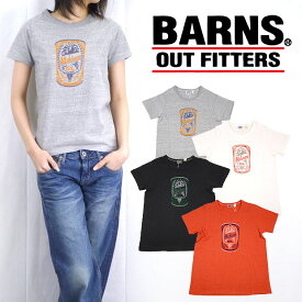 バーンズ BARNS 吊り天竺Tシャツ「Michigan OIL」 レディースサイズ