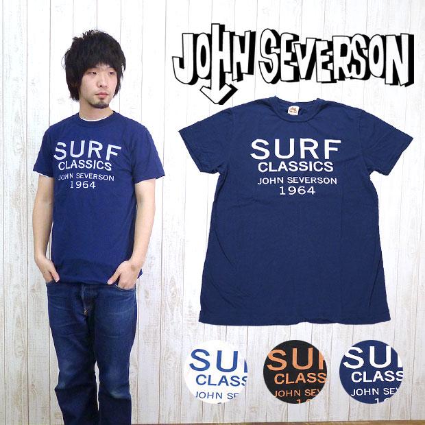 ジョンセバーソン John Severson 半袖 Tシャツ プリント「SURF」