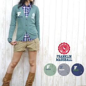 フランクリン マーシャル FRANKLIN&MARSHALL レディース カーディガン ウール・カシミア 混紡 ワッペン&刺繍※セール価格につき返品・交換不可