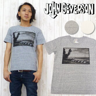 젼세바손 John Severson 반소매 T셔츠 프린트 「LAHAINA HARBOR」JS76264