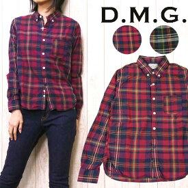 ドミンゴ D.M.G. DOMINGO ボタンダウン シャツ B.D. チェック 16-348x レディース
