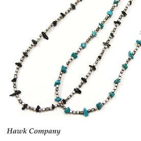 ホークカンパニー HAWK COMPANY ネックレス ビーズ ストーン ターコイズ ネイティブ 70cm 5600
