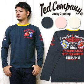 テッドマン テッドマンズ TEDMAN'S長袖 Tシャツ 抜染プリント 「INDIAN HEAD」 TDLS-286