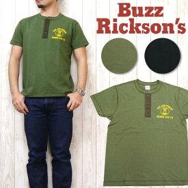 バズリクソンズ Buzz Rickson's 半袖 Tシャツ ヘンリーネック スラブ ビンテージ VINTAGE SLUB HENLEY NECK br76952