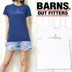 nrab BARNS Tシャツ 半袖 プリント 「CLIMBING」 Made in USA USA製 コットン レディース NB-3415